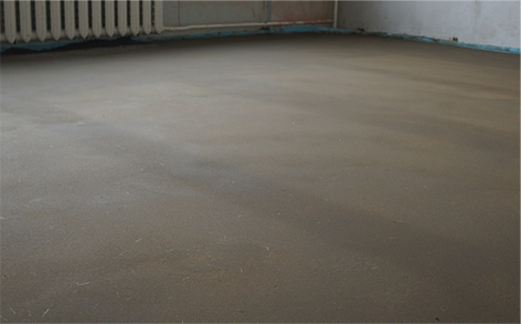 Surface course of floor with DC-5-8 (the same dry mixture)